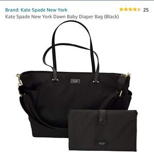 EUC Kate Spade NY dawn diaper bag black